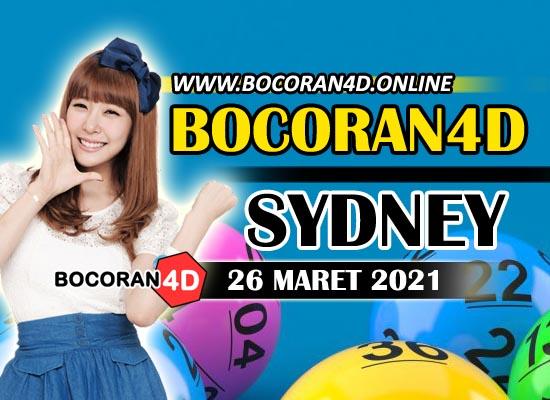Bocoran Togel 4D Sydney 26 Maret 2021