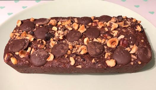 Cake au chocolat-noisettes sans oeuf (végétarien)
