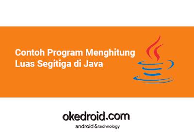 Contoh Program Mencari Menghitung Luas Segitiga di Java