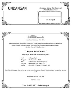 Gambar contoh undangan