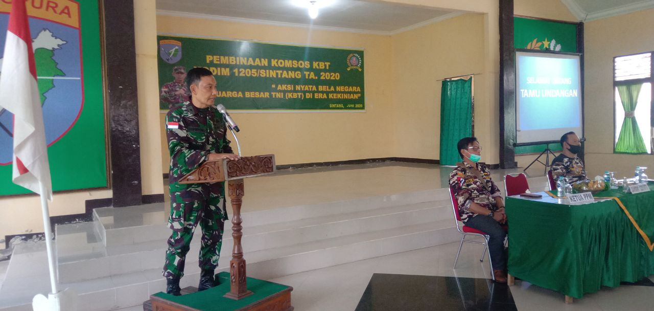 Kodim Sintang Gelar Pembinaan Komsos dengan Keluarga Besar TNI