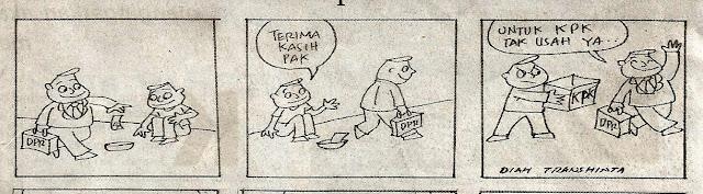 Komik Strip DPR Bagi-bagi Duit karya Boedy HP