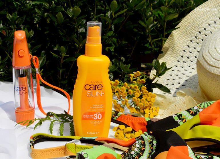 Avon Care Sun+ Wodoodporne Mleczko nawilżająco-ochronne w sprayu SPF 30 - recenzja