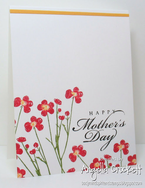 Stampin Up 'Pressed Flowers' and 'All Year Cheer II'; Card Designer Angie Crockett