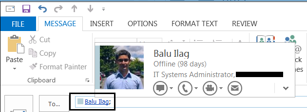 Outlook does not show my Skype for Business Presence Status