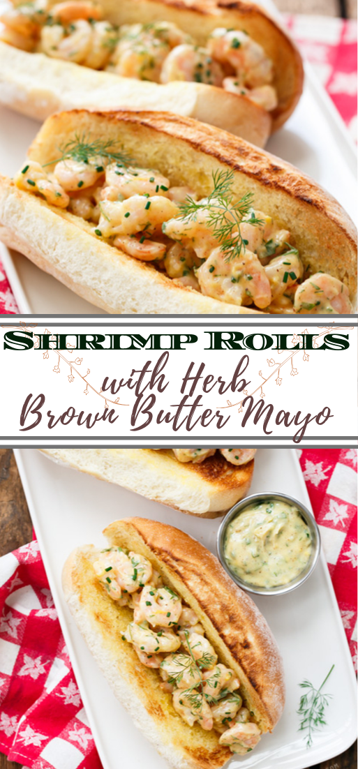 Shrimp Rolls with Herb Brown Butter Mayo #healthyfood #dietketo #breakfast #food
