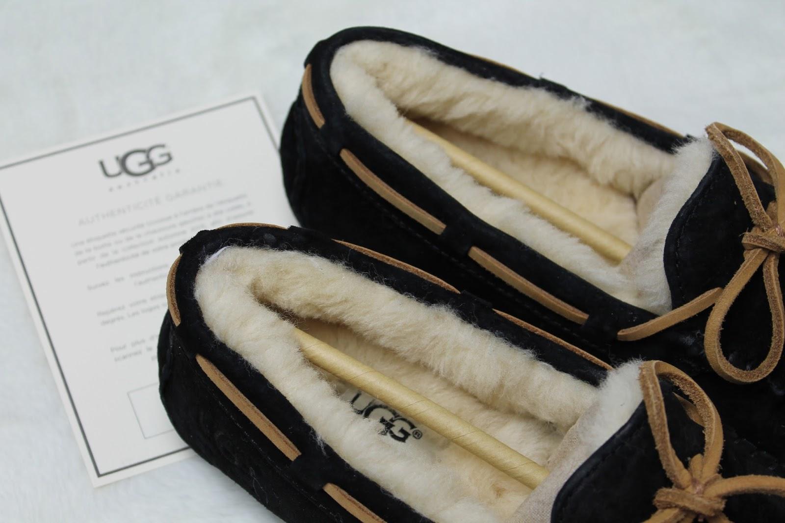 ugg australia mocassins laine cuir dakota pewter chaussons fourrés gris concours