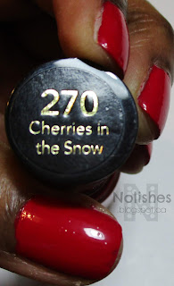 Revlon's 'Cherries in the Snow' - pink-toned red nail polish