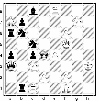 Problema de mate en 2 compuesto por Francisco Novejarque (1º Premio, Match Holanda - España 1935)