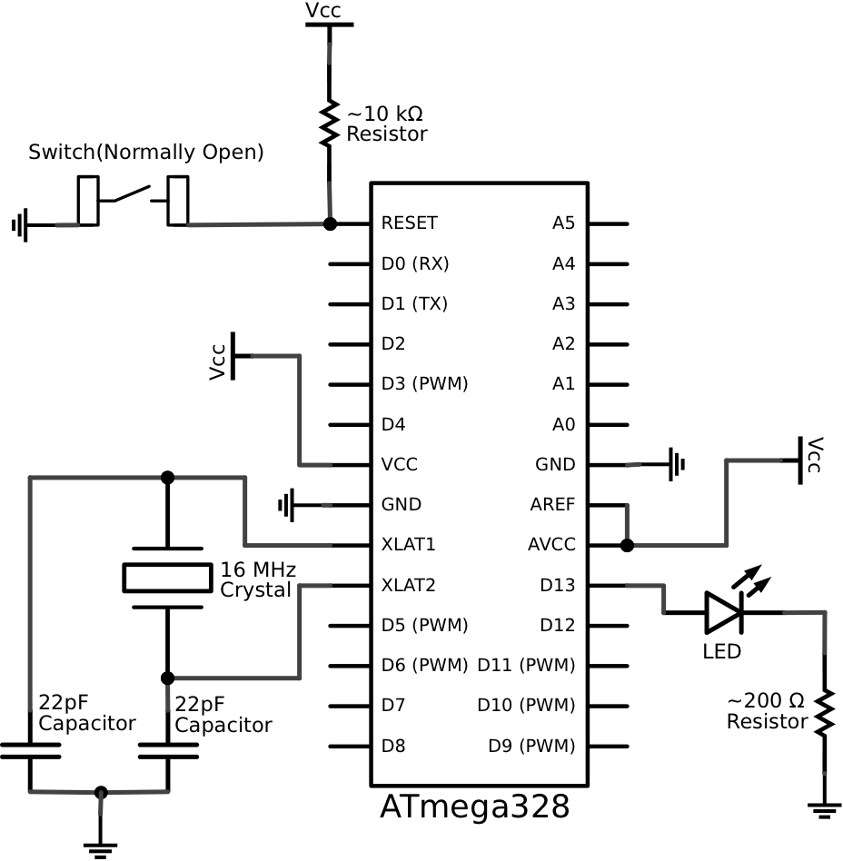circuit diagram and breadboard connections