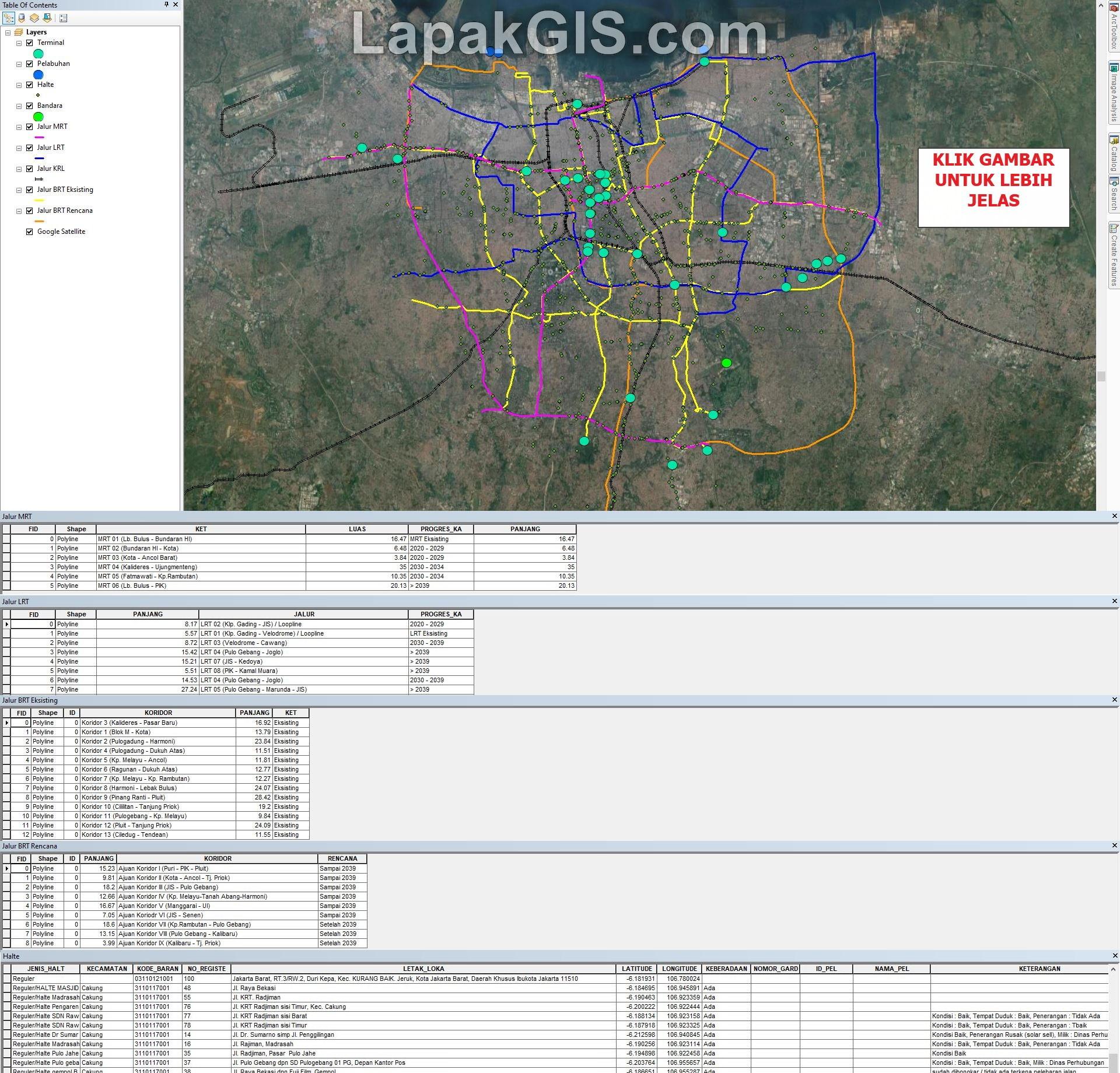 Data Shapefile MRT, LRT dan BRT Jakarta