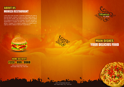 Create a Tri-fold Restaurant Brochure Photoshop Tutorial - create tri fold brochure