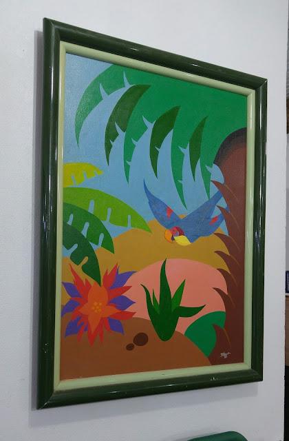 Acrílico em tela pintado pelo Desenhista Marcelo Lopes de Lopes em 1989