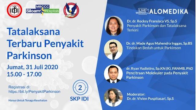 Webinar Tatalaksana Terbaru Penyakit Parkinaon hum'at,31 Juli 2020