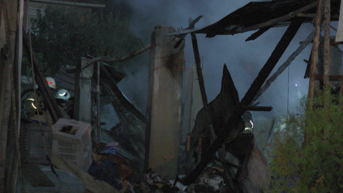 Palet fabrikasında yangın: Tüpler ardı ardına patladı