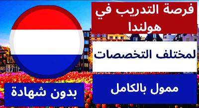 فرصة التدريب في هولندا ممولة بالكامل ولا تتطلب شهادة لغة لعام 2021