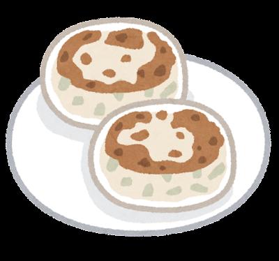 ニラ饅頭のイラスト