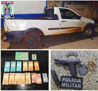 Ação da PM prende suspeitos de envolvimento em furto de gado e porte ilegal de arma de fogo em Milagres do Maranhão
