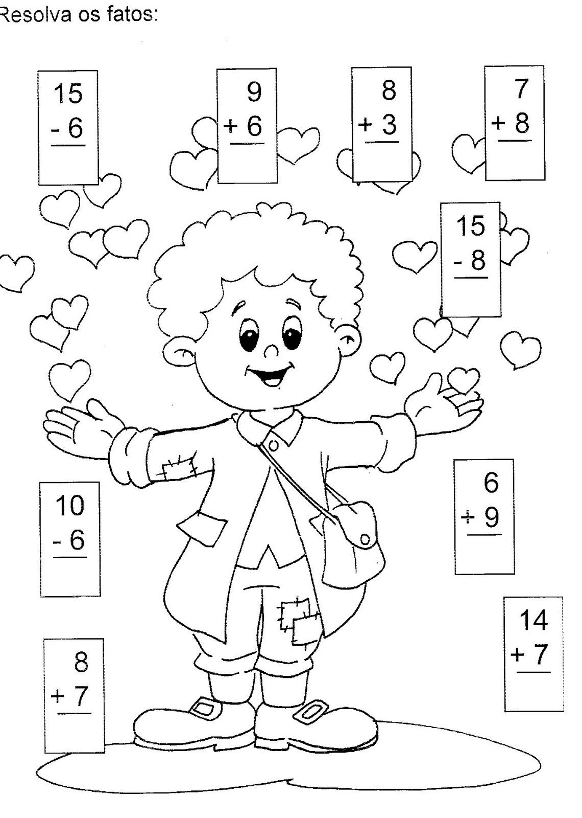 Escola Saber Atividades De Matematica Adicao E Subtracao
