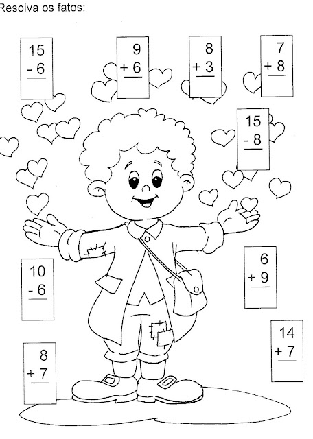 Atividades de matemática adição e subtração ensino fundamental