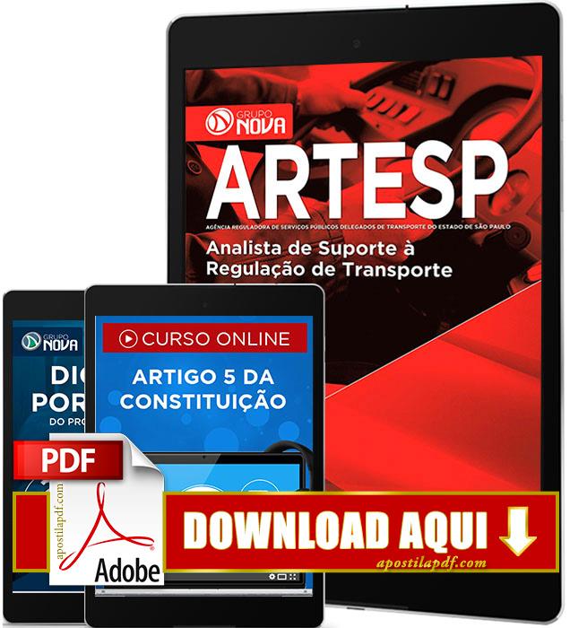 Apostila ARTESP 2017 PDF Download Analista de Suporte à Regulação de Transporte