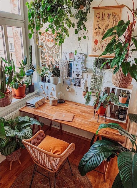 Say No To Monday Blues With Plants In The Office-designaddictmom