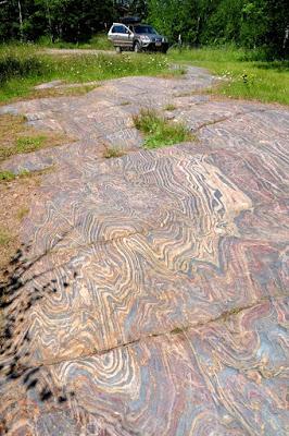 Folded banded iron formation, Minnesota