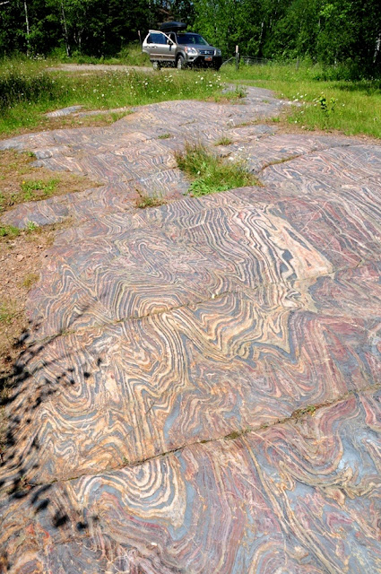 Folded banded iron formation, Minnesota