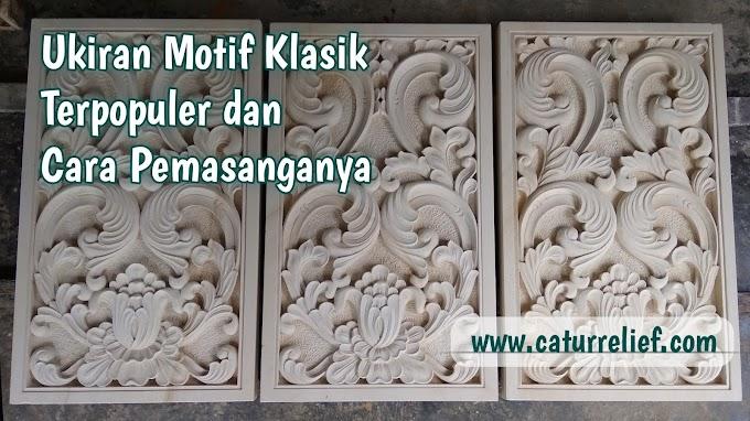 Hiasan dinding Relief motif ukiran klasik dan cara pemasangannya