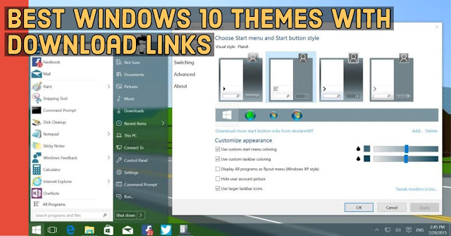 Best Windows 10 Themes With Download Links - Mystery Techs