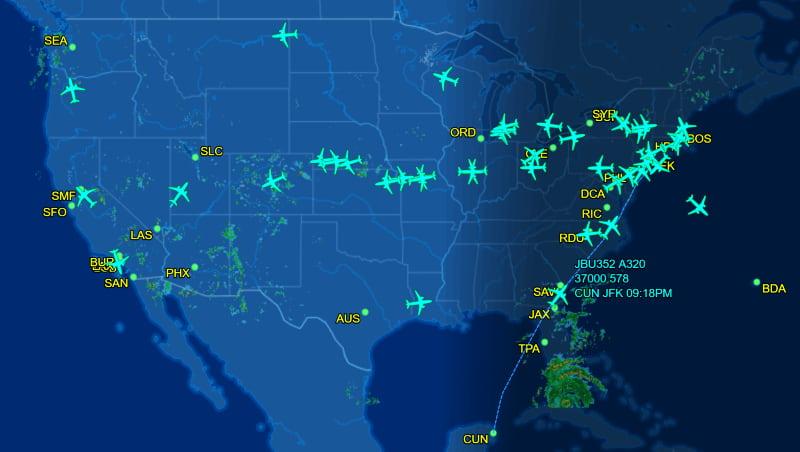 موقع-فلايت-رادار-Flightradar24