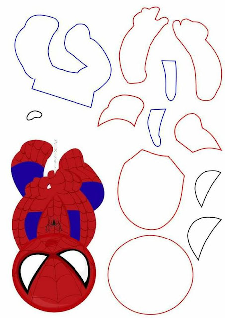 Spiderman Head Down Free Printable Template