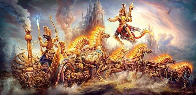 War between devas and asuras