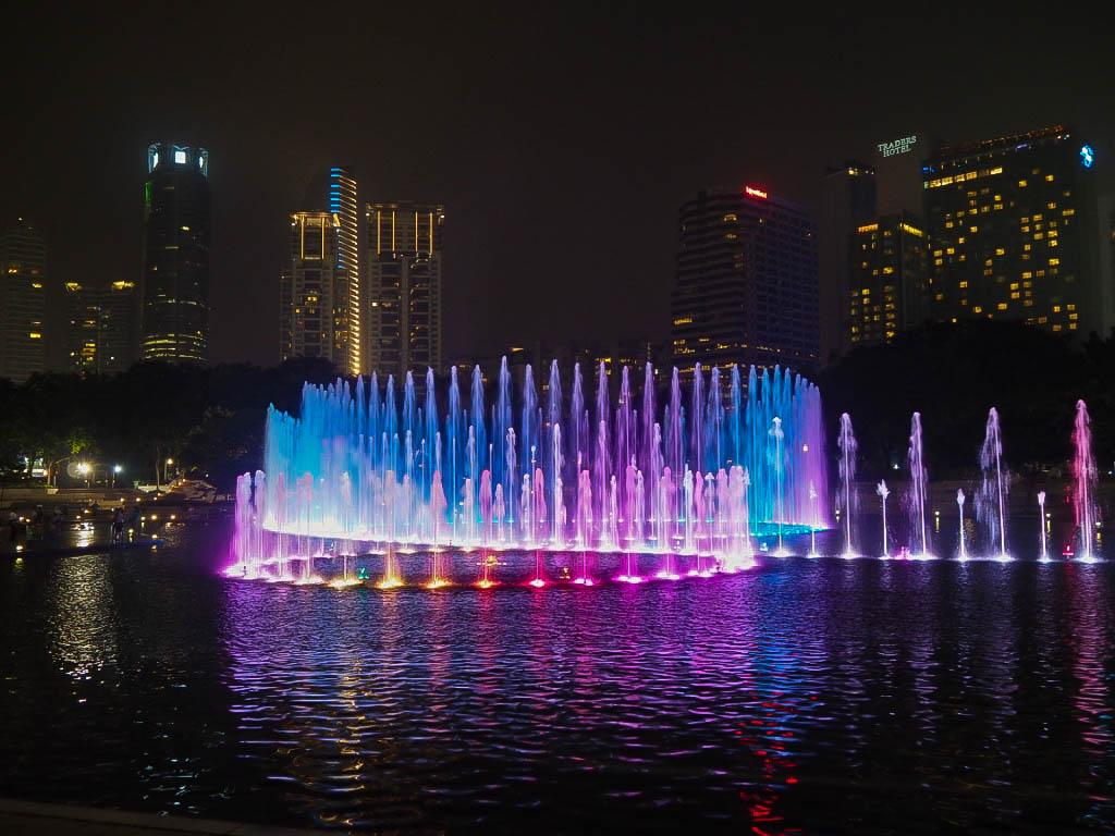 Fountains outside Petronas Towers, Kuala Lumpur