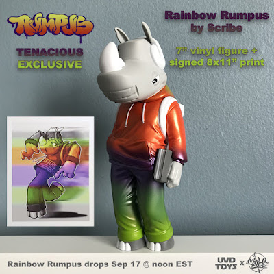Tenacious Toys Exclusive Rainbow Rumpus Walking Vinyl Figure by Scribe x UVD Toys