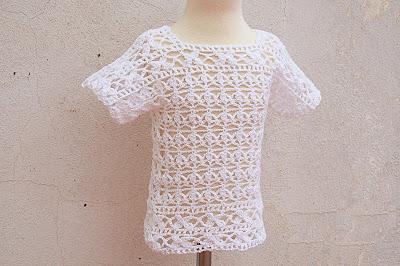 5 - Crochet Imagen Blusa blanca a crochet y ganchillo por Majovel Crochet