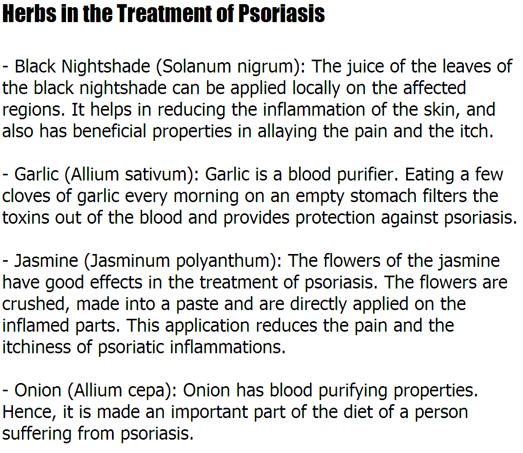 Cure For Psoriasis – Herbs in the Treatment of Psoriasis