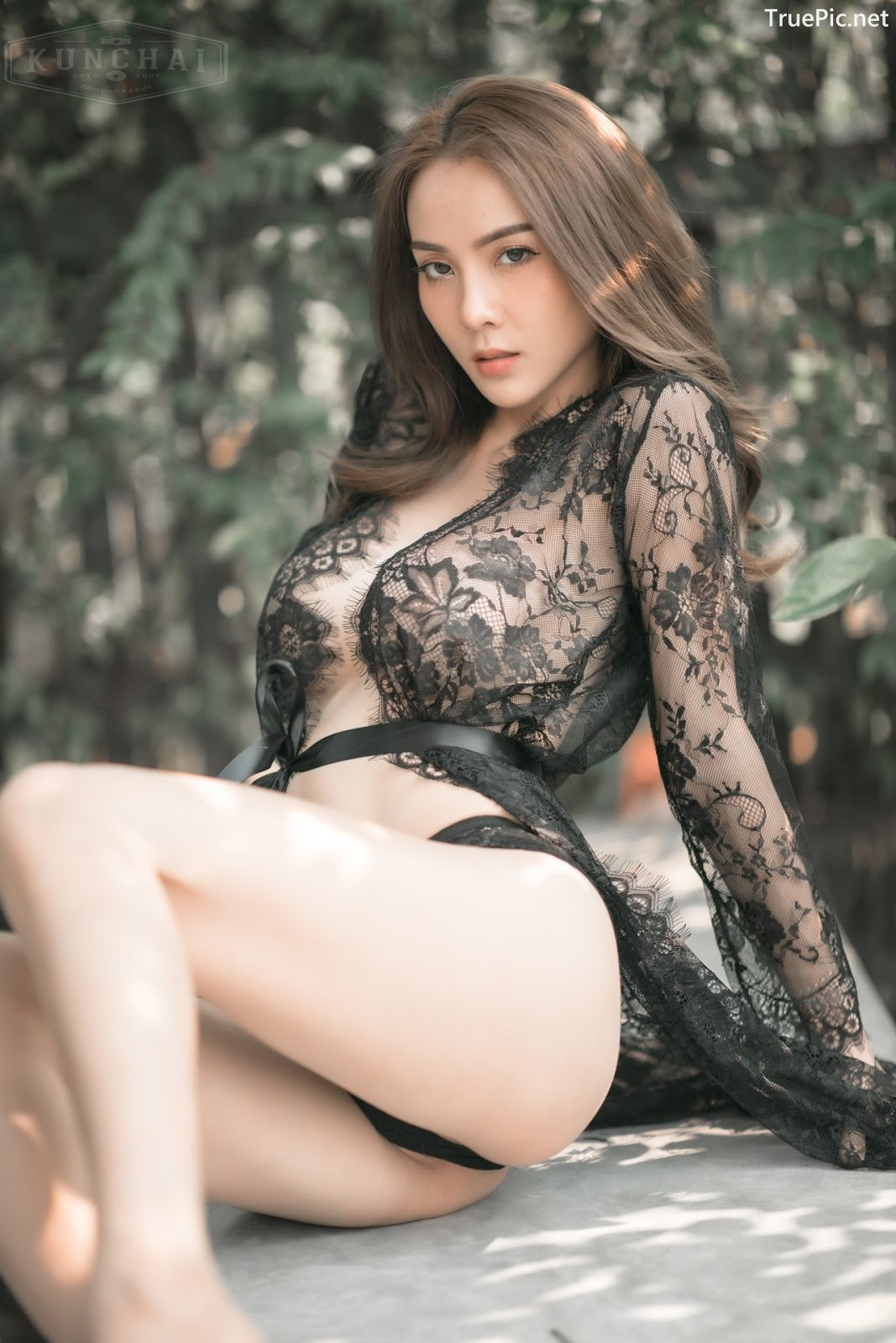 Image Thailand Sexy Model - Soraya Upaiprom - Black Lace Lingerie - TruePic.net - Picture-2