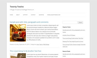 Twenty Twelve Blogger Template