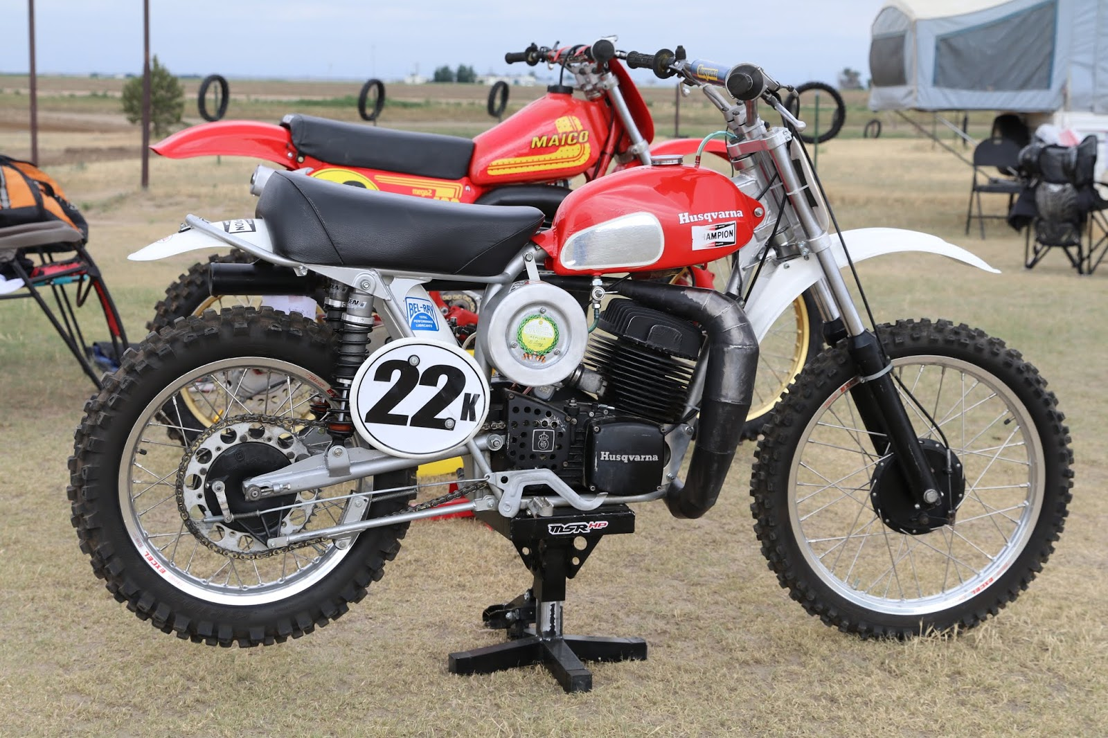 OldMotoDude: Husqvarna 400CR #22K raced at the Rocky