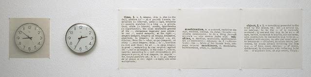 Joseph Kosuth, Clock (One and Five), English/Latin Version, 1965