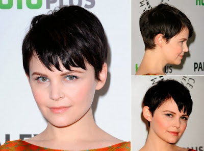 Ginnifer Goodwin short haircut with bangs