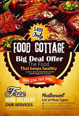 تحميل 10 فلاير لإعلانات المطاعم 1- Restaurant Flyer Templates Bundle