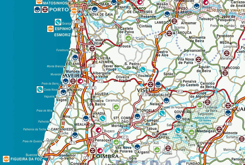 mapa de portugal distrito de aveiro Mapas de Aveiro   Portugal | MapasBlog mapa de portugal distrito de aveiro