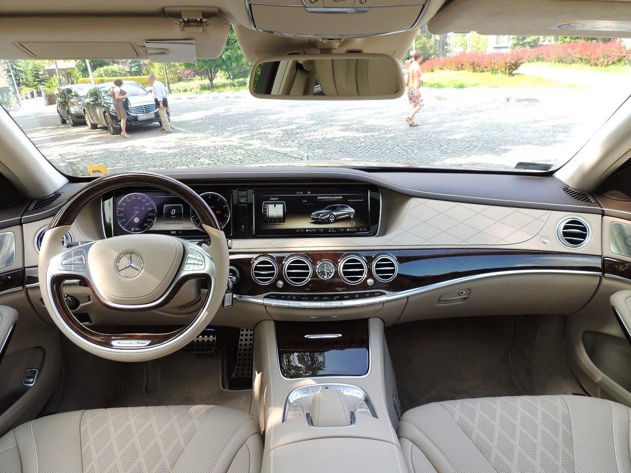 Mercedes S 500 L 4MATIC - wnętrze