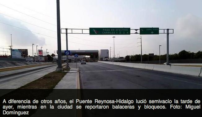 VALOR TAMAULIPECO   : PUENTES INTERNACIONALES en REYNOSA