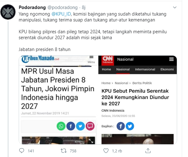 MPR Disebut Usul Masa Jabatan Presiden 8 Tahun