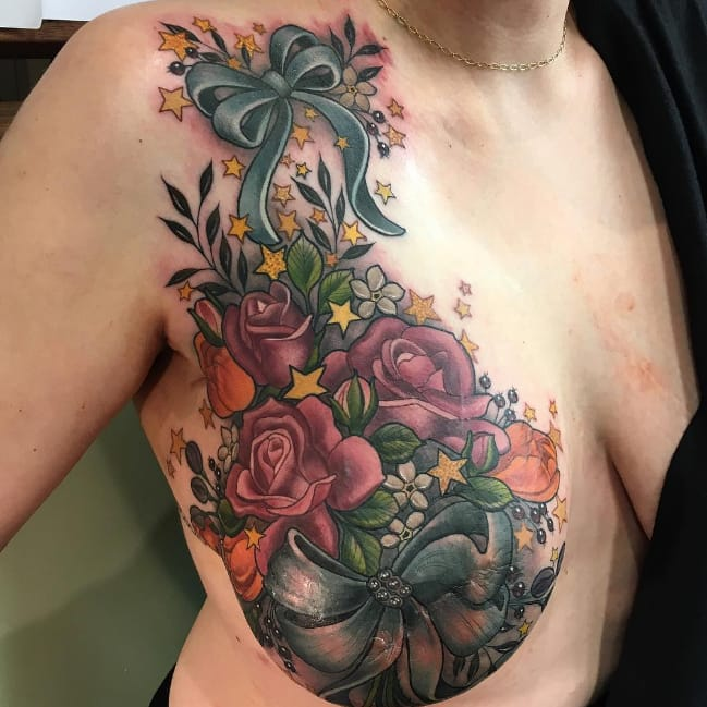 Breast cancer survivor tattoo by makkala rose goes viral for Tattoo nipple breast cancer