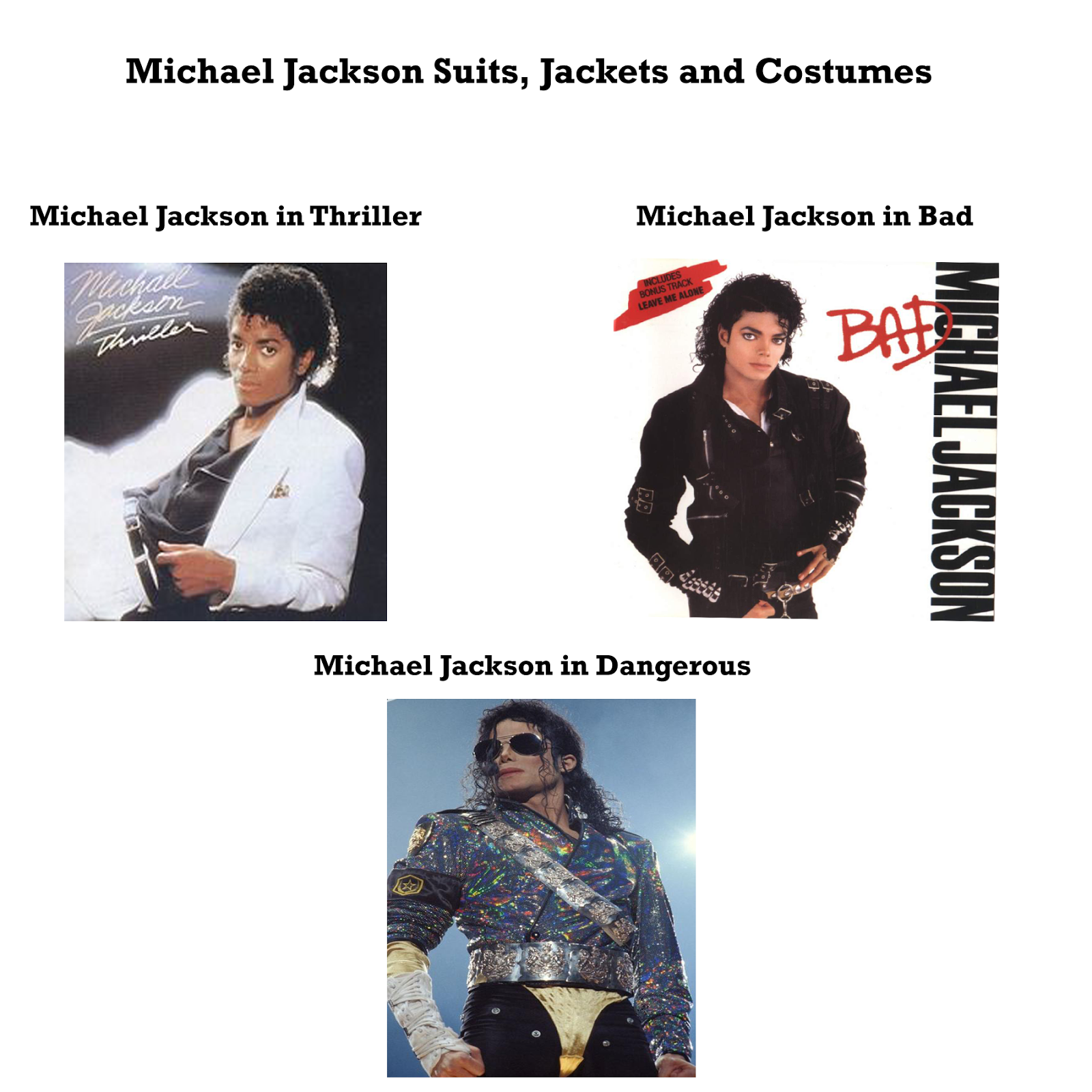 Michael Jackson (MJ) Suits, Tuxedo Jackets, Costumes and ...