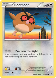 Hoothoot BREAKthrough Pokemon Card
